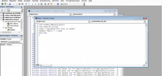 Je eerste VBA code in Excel
