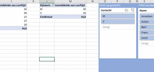 Je slicers mooi neerzetten in je Excel werkblad