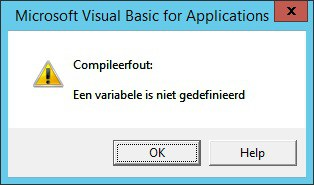 De foutmelding bij Option Explict