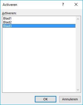 Navigeer in Excel